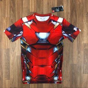 🔥 NWT Under Armour Iron Man Compression Shirt L